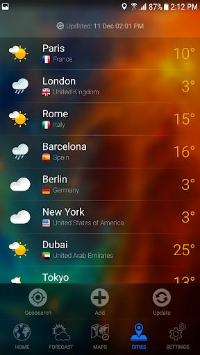 WEATHER NOW Premium US Forecast, 3D Earth & Widget  screenshots 8