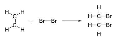 A) ETHENE DECOLOURISES BROMINE WATER, BUT NOT ETHANE WHY B