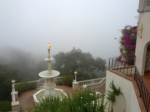 Photo: Hearst Castle - normally there would be a view here, but I went on a foggy morning