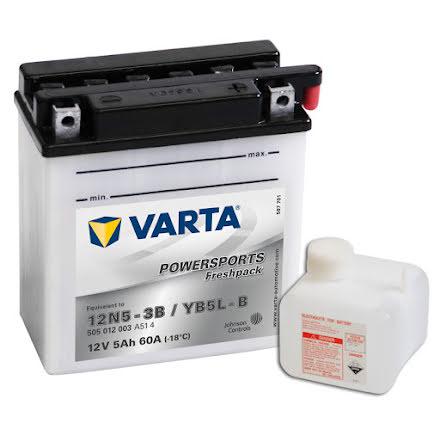 MC-batteri 5Ah 12N5-3B YB5L-B