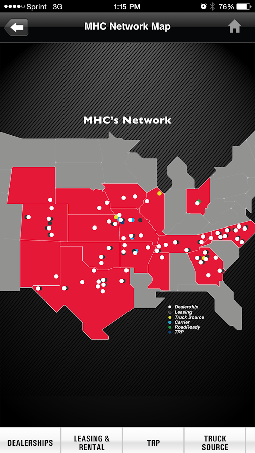 MHC Locations & Services- screenshot