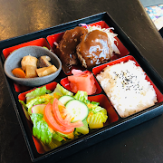 Hamburg Bento (Japanese style beef patty 200g)