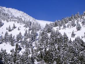 Photo: Observese a la gente practicando esquí de travesia.