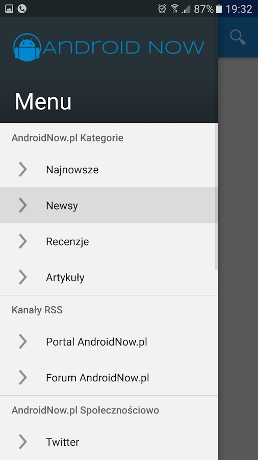 Portal AndroidNow.pl- screenshot