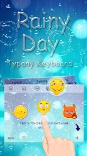 Animated Rainy Day Theme&Emoji Keyboard - náhled