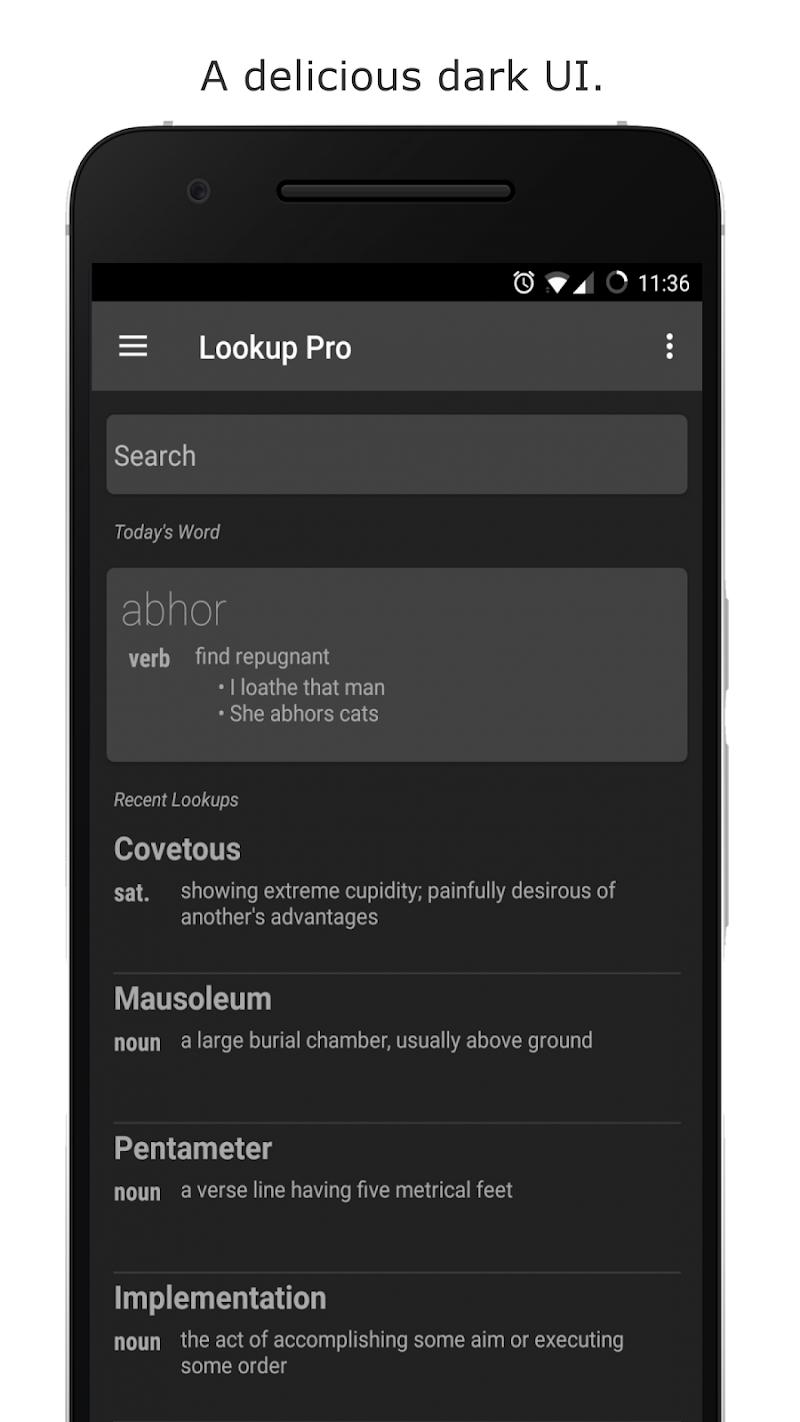 Look Up - A Pop Up Dictionary Screenshot 0