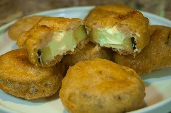Yum Essentials Cream Cheese Stuffed Fried Pickles Just A Pinch