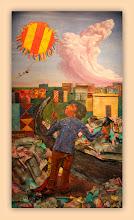 Photo: Antonio Berni Juanito Laguna remontando un barrilete 1973. 192 x 109 cm. Colección particular, Buenos Aires. Expo: Antonio Berni. Juanito y Ramona (MALBA 2014-2015)