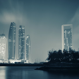 Skyscrapers by Sadakalo Shopno - City,  Street & Park  Skylines ( skylines, nightscape, cityscape, architechture, long exposure, skyscrapers, landscape )