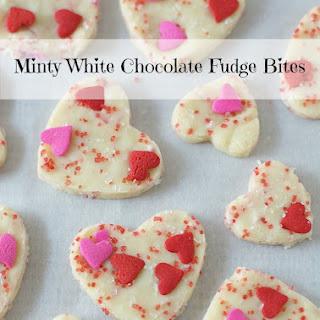 3 Ingredient Minty White Chocolate Fudge Bites