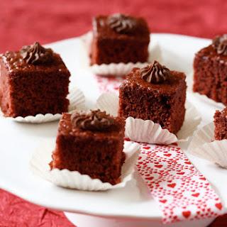 Red Velvet and Chocolate Ganache Bites