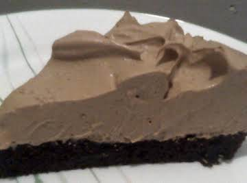 Brownie Cappuccino Mousse Pie