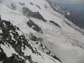 Photo: El glaciar de Bossons con nieve recién caída. Foto AH