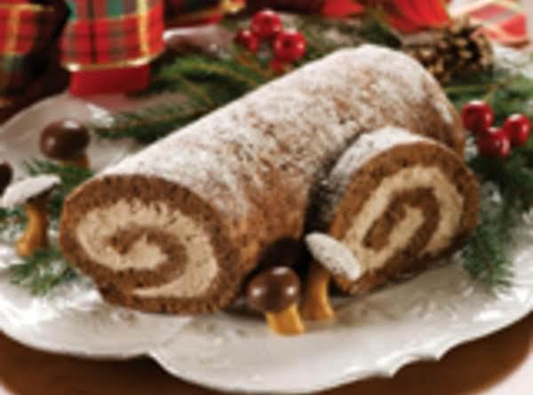 Festive Yule Log Cake
