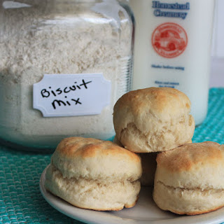 Homemade Biscuit Mix and Biscuit