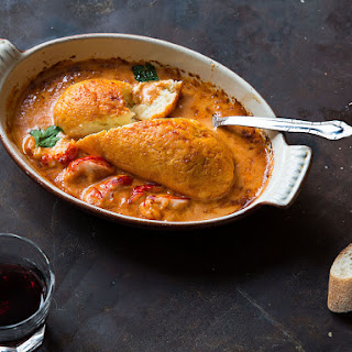 Pike Cakes with Crayfish Sauce (Quenelles de Brochet).