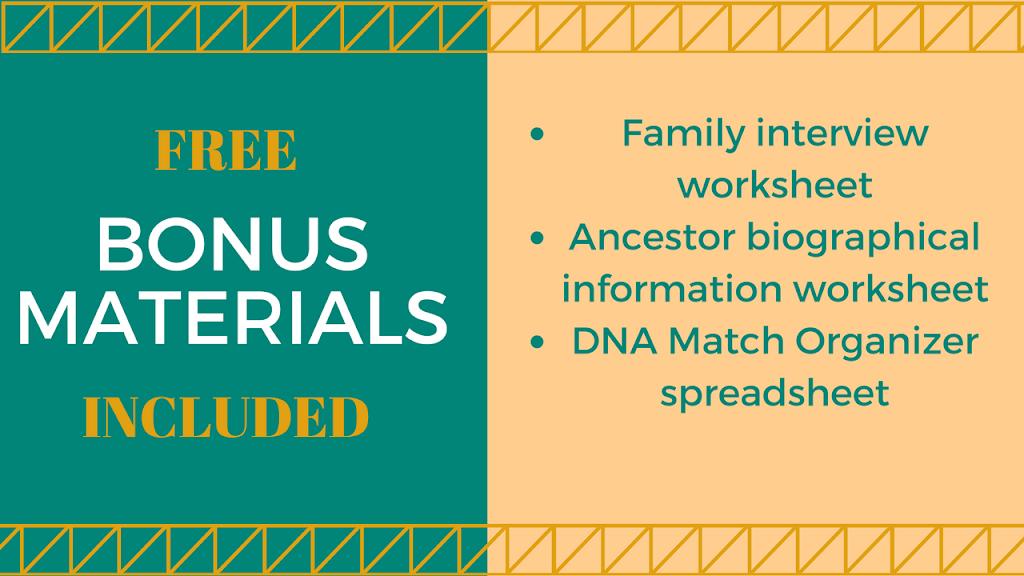 Family interview worksheet for free, other bonus genealogy materials