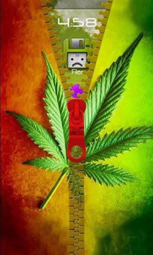 Marijuana Weed Zipper