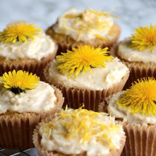 Dandelion and Lemon Paleo Cupcakes