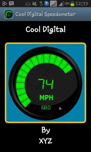 Cool Digital Speedometer