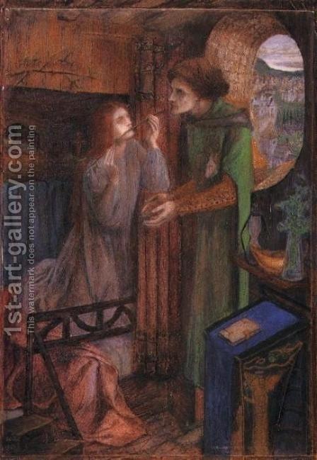 Clerk Saunders. The painting by Elizabeth Eleanor Siddal