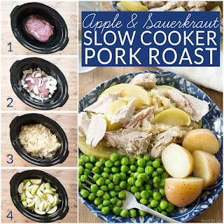 Apples, Pork Roast and Sauerkraut in the Crock Pot
