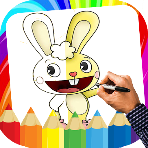 App Insights: How to draw Happy tree friends - Coloring book