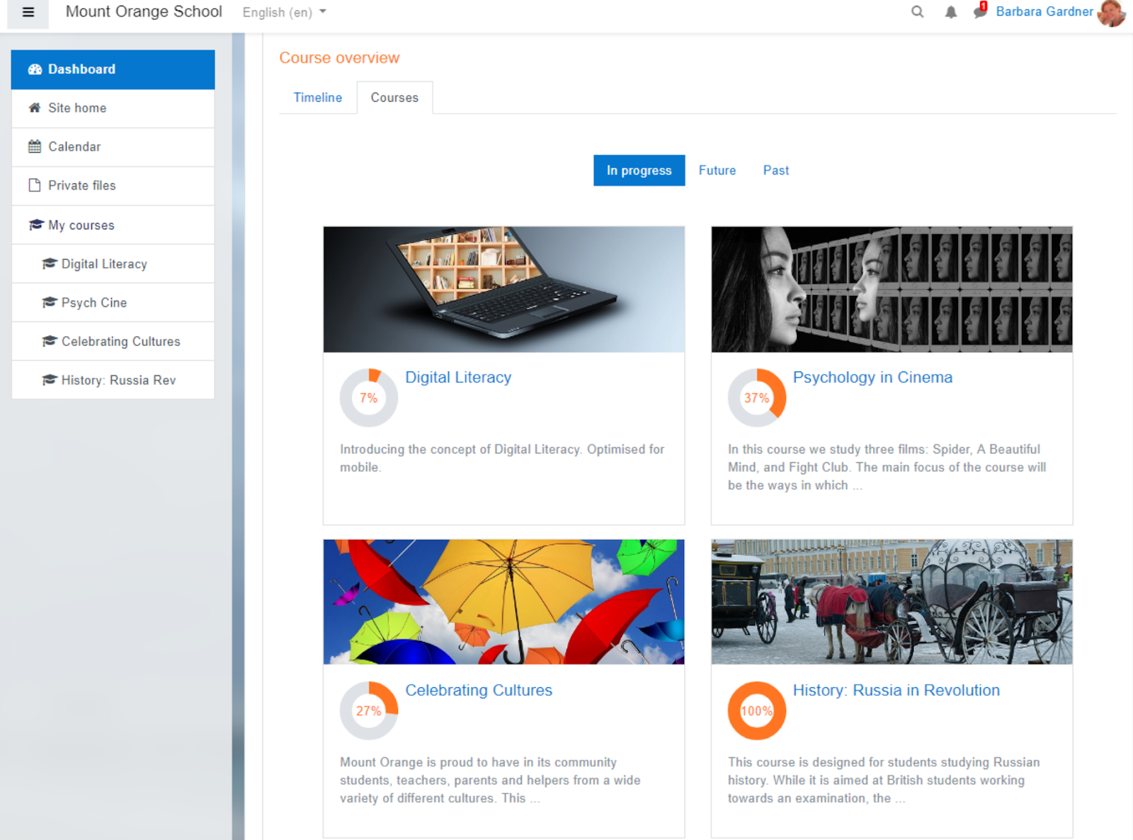 moodle for creating online courses