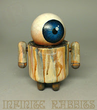 Photo: Drip Droid. This will be at the Around the World in 80 Toys show this week. http://espionage-gallery.com/exhibition/espionage-gallery-presents-around-the-world-in-80-toys/