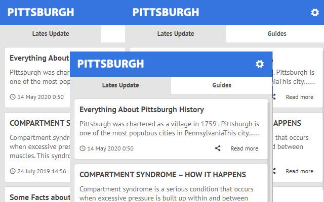 Pittsburgh - Update Latest News