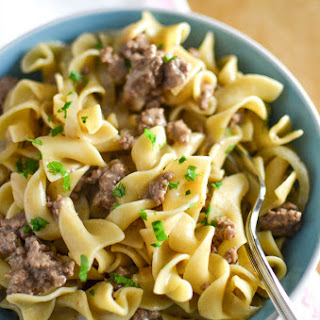 (Dairy Free) Ground Beef Stroganoff.