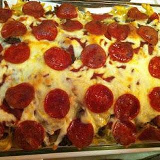 Mama's Pizza Casserole.