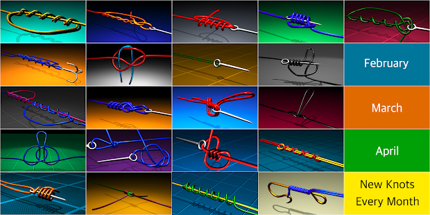 Fishing knots real 3d app report on mobile action for Fishing knots app