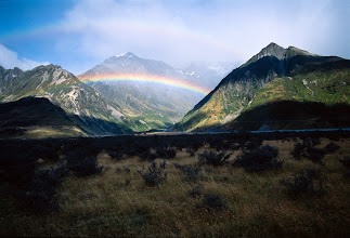 Photo: Double Rainbow on the way to Mt. Cook National Park