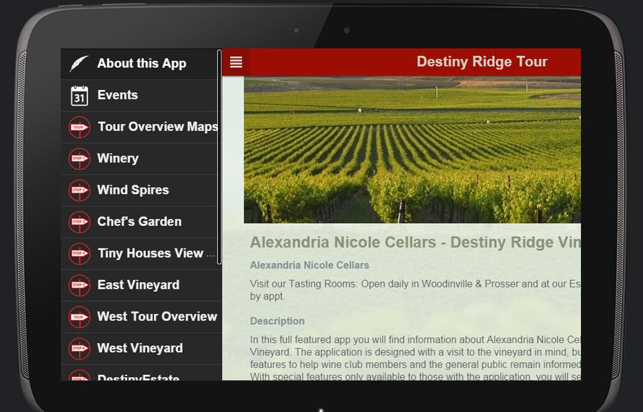 Alexandria Nicole Cellars- screenshot