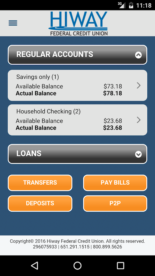 Hiway Federal Credit Union- screenshot
