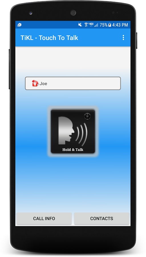 TiKL Touch Talk Walkie Talkie- screenshot