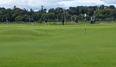 Photo: Undulating shared green at the second (Nice par Ian!)