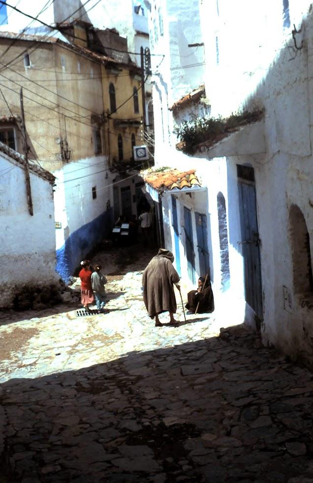 Callejuela de Cefchauen.- Marruecos
