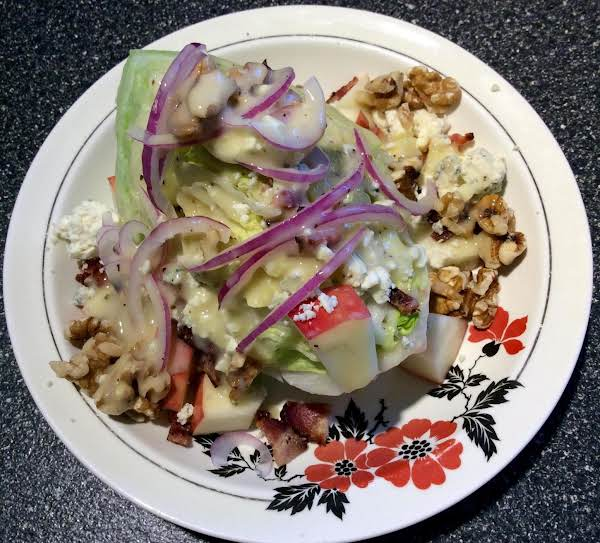 Apple Wedge Salad With Golden Balsamic Dressing