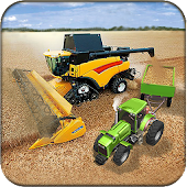 Real Tractor Harvester Game 2017