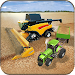 Real Tractor Farming Harvester Game 2017 icon