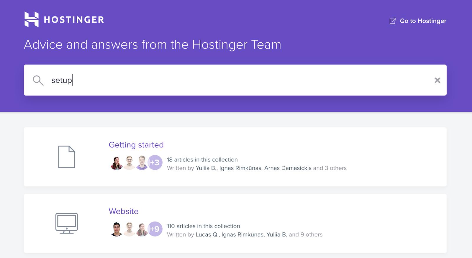 Hostinger FAQs