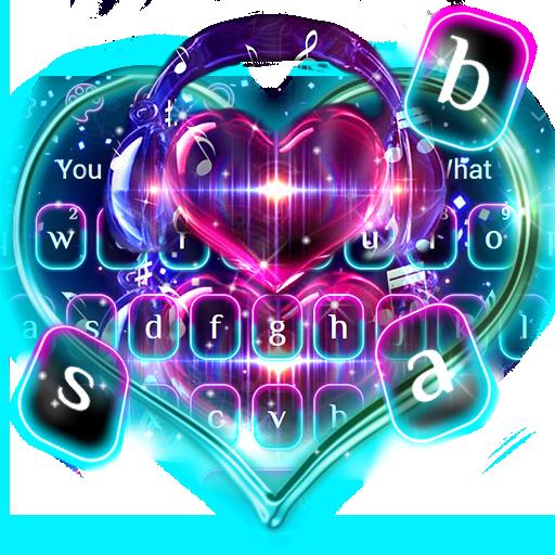 Twinkling Neon Music Keyboard