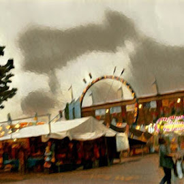Stormy Fair by Roxanne Dean - Digital Art Abstract