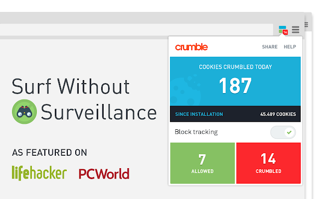 Crumble – Online Privacy, Stop Tracking