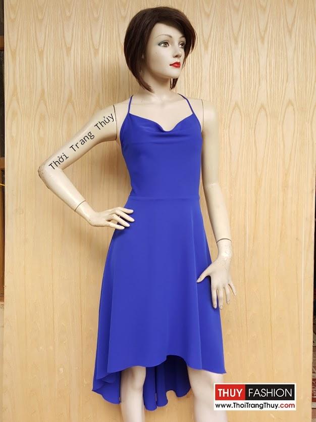 Váy xòe hai dây cổ đổ cho cô nàng tiệc tùng V426 Thời Trang Thủy
