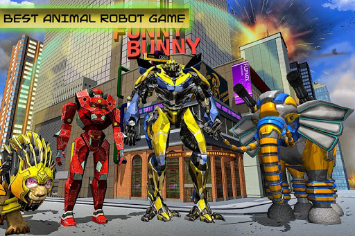 Transforming Robot Elephant Vs Ultimate Lion Robot Varies with device screenshots 10