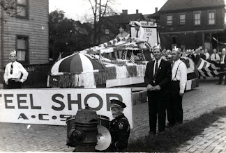 Photo: Altoona Car Shops 'Steel Shop' float for their WWII Honor Roll.