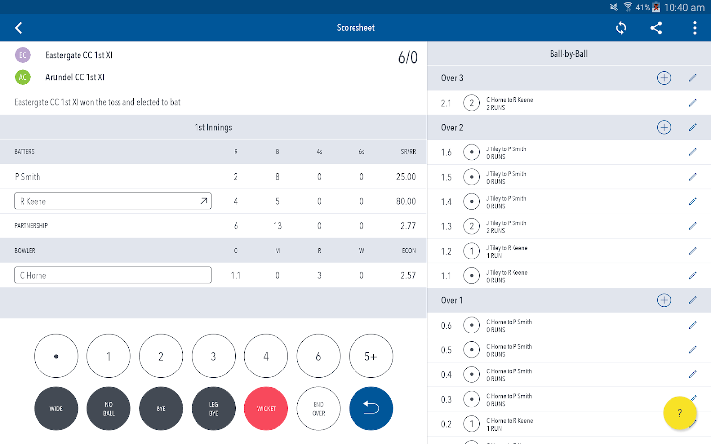 Play-Cricket Scorer- screenshot